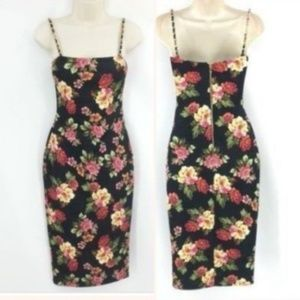 New Hot Miami Styles Dress Floral Sleeveless Black